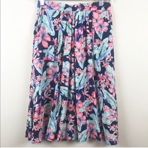 River Island floral print skirt size 8